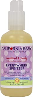 California Baby Overtired and Cranky Aromatherapy Spritzer Pillow and Bed Spray | 100% Plant Based (excludes water) | Overtired and Cranky Calming Sleep Formula | Roman Chamomile and Tangerine Essenti