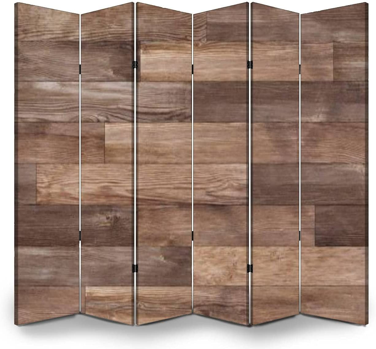 6 Panel Wall Popular product Divider Seamless Texture SEAL limited product Hardwood Wood Floor