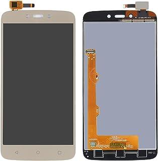 Ersätta gamla eller dåliga delar IPartsbuy för Motorola Moto C plus LCD-skärm + pekskärmstillbehör (Color : Gold)