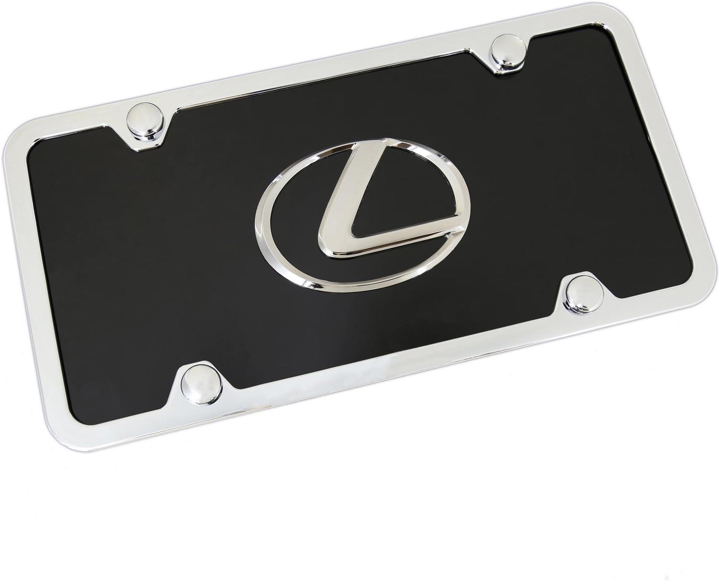 LEXUS Au-Tomotive Gold Inc Chrome Logo Plate License + Black On Finally Portland Mall resale start
