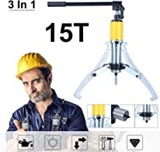 Chrismastopher 15T Hydraulic Gear Puller 3 Jaws Drawing Machine Wheel Bearing Puller Universal Hydraulic Tools 3 In 1 (15 Ton)