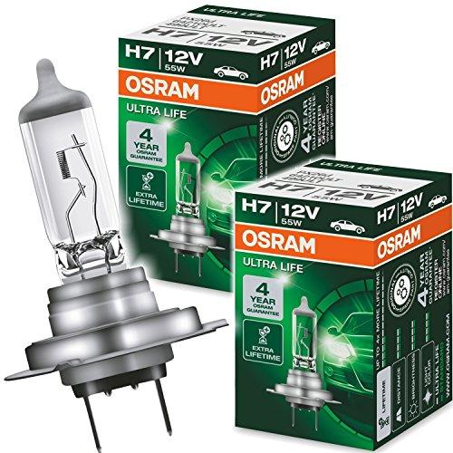 Osram 2X Ultra Life H7 12V 55W PX26d LongLife Halogenlampe 64210LT