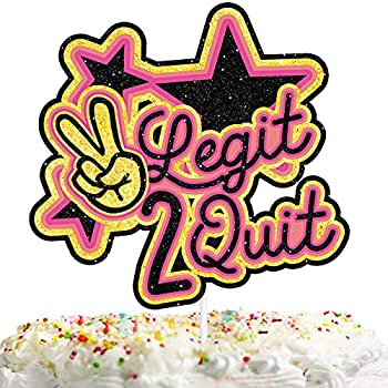 Summer Party Happy Birthday Cake Topper Brightly Colored Glitter Retro Throwback Boys Girls Birthday Theme Baby Shower Decorations Decor Supplies