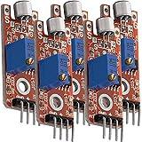 AZDelivery 5 x KY-038 Micrófono detección de Sonido de Alta sensibilidad módulo pequeño para Arduino