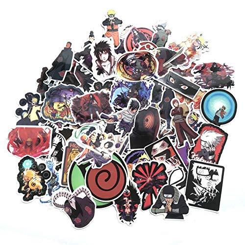 ALTcompluser Naruto Vinyl-Aufkleber, unsortiert, für Notebook Skateboard Snowboard Gepäck Koffer MacBook Auto Fahrrad Stoßstange, verschiedene Stile (70 Stück)
