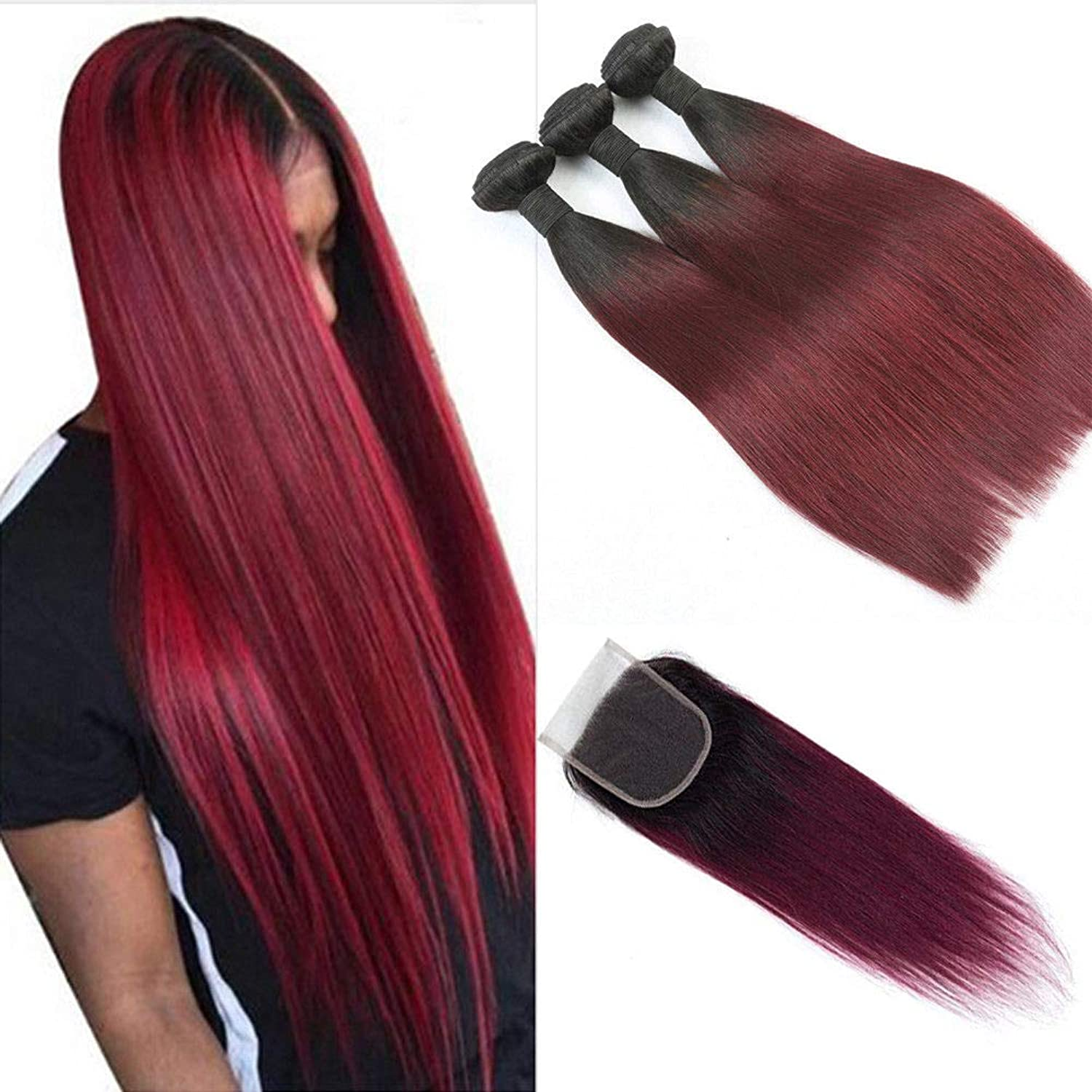 FidgetFidget Straight Hair 3 Bundles 12 12 12 +12