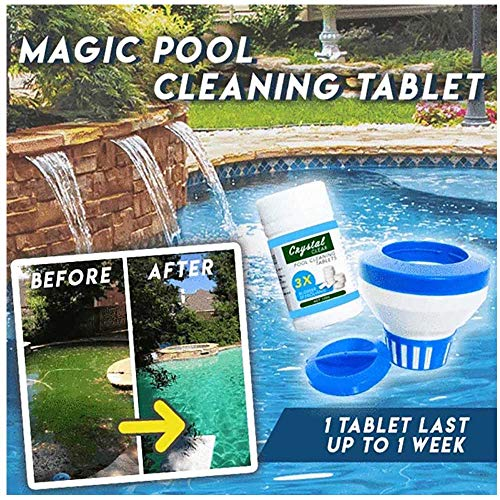 Why Choose Pool Water Cleaner Tablet | Clear Balance Pool Maintenance Long Lasting Chlorinating Tabl...