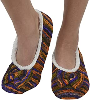Womens Artisan Stripes Ballerina Slipper Socks   Womens Slippers