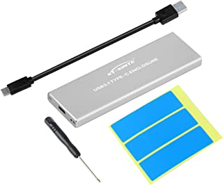 XT-XINTE NVMe PCIE USB3.1 Recinto HDD M.2 a USB Tipo C 3.1 M Llave Estuche de Unidad de Disco Duro SSD Caja móvil Externa (Plata)