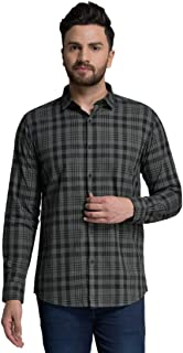 ID Men Navy Blue Slim Fit Shirt