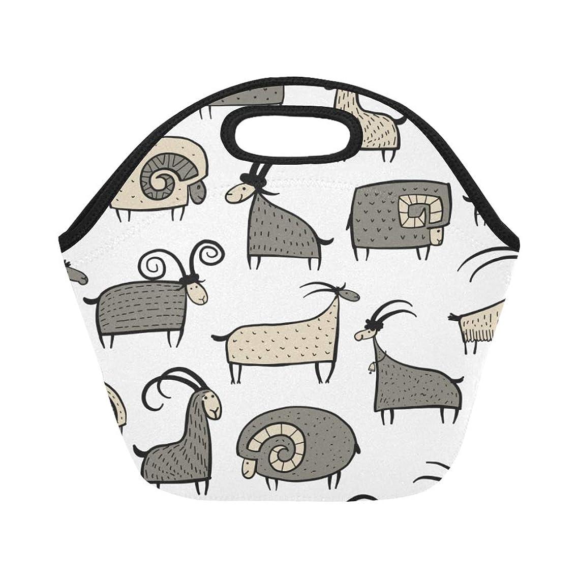 ダンスメアリアンジョーンズ逸脱XHQZJ ランチバッグ すばしこい 羊 弁当袋 お弁当入れ 保温保冷 トート 弁当バッグ 大容量 トートバッグ