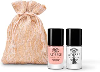 Adesse New York Organic Infused Nail Treatment, Polish Toughen Weak Nails, Straightened and Smooth Fingernails- Multi-Tasking Nail Treatment Duo