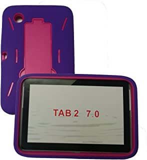 [Rhino] Purple Hot Pink Heavy Duty Rugged Impact Hybrid Case with Kickstand for Samsung Galaxy Tab 2 (7.0 Inch) Tablet