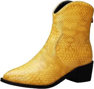 FANIMILA Women Vintage Block Heels Autumn Boots Zipper Boots
