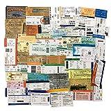 55Pcs/Pack Outdoors Travel Adventure Plane Ticket Sticker/Waterproof Die Cut Vinyl Stickers for Water Bottle Laptop Skate Decoration(Plane Ticket)