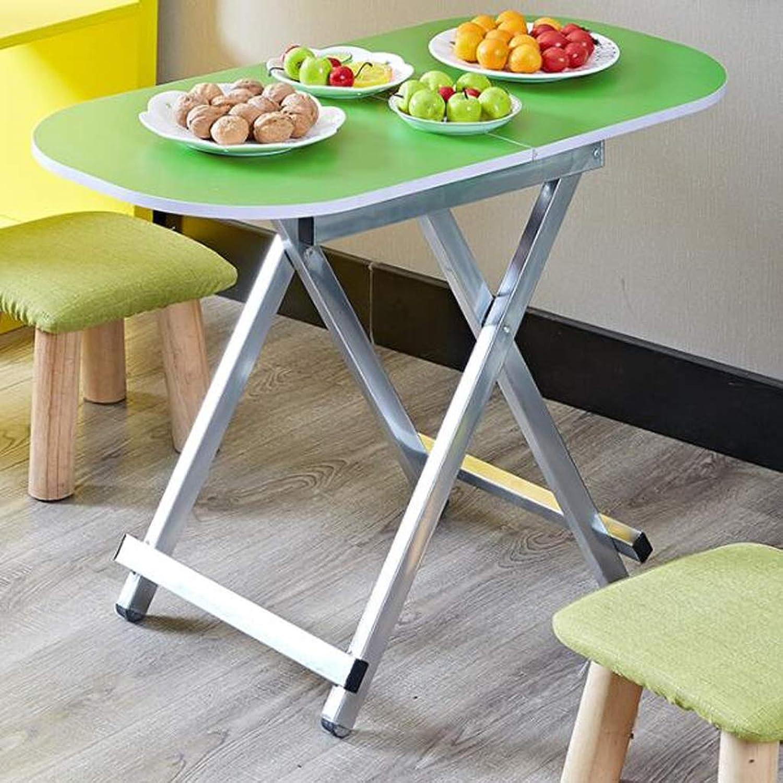 QYSZYG Household Small Table Simple Folding Table Student Simple Learning Desk   80 × 40 × 55cm Folding Table (color   E)