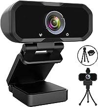 Webcam 1080p HD Computer Camera Microphone Laptop USB PC Webcam, HD Full Gaming Computer Camera, Recording Pro Video Web C...