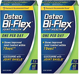 One Per Day Glucosamine Joint Shield Dietary Supplement, Helps Stregthen Joints, 60 Count- 2 Pack