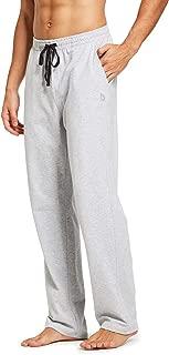 Men's Active Yoga Sweatpants Open Bottom Jogging Leg Workout Jogger Jersey Straight Pants Side Pockets