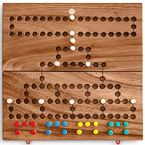 KHAPLO Barrikade Blockade brettspiel - Malewitz - Strategiespiel aus Akazienholz für 2, 3 oder 4 Spieler. Edukatives Brettspiel für die ganze Familie. Spiele für Erwachsene - Wpiele ab 5 Jahren