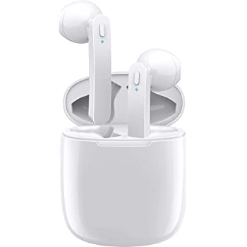 Wireless Bluetooth Earbuds 5.0 in-Ear Sports Headphones Stereo Sound Sweatproof Earphones with Charging Case for Sports Running Compatible for Airpods/Android/iOS
