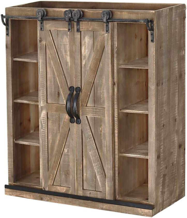 Sliding Barn Door Wall Storage Cabi Console Max 44% OFF Freestanding Cabinet NEW