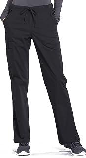 Cherokee WW Professionals WW160 Mid Rise Straight Leg Drawstring Pant Black L