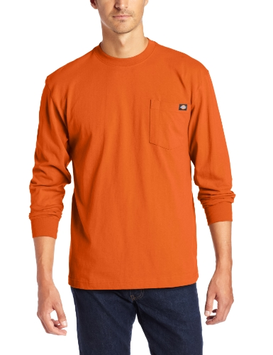 Dickies - WL450 Heavyweight ras du cou pour hommes, 2X-Large Tall, Orange