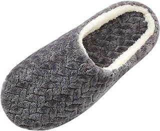blili women's house slippers slip-on anti-skid flower indoor casual winter warm shoes snow slipper