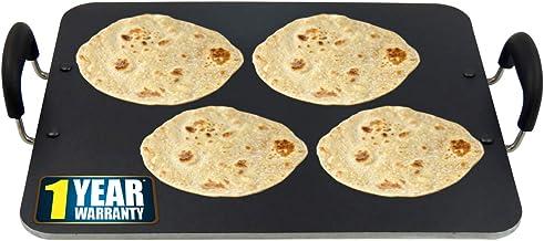 iBELL PT3833 Non Stick Dosa Roti Chapati Pathiri Tawa 5mm Large Rectangular Aluminium Body(37.5cm x 32.5cm Dia)