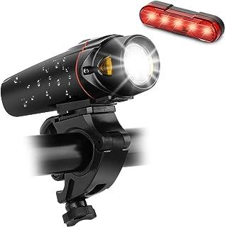 Ensemble D'éclairage de Vélo à LED, Sendowtek Éclairage Avant et Arrière Rechargeable USB, Intensité Lumineuse de 350 Lux ...