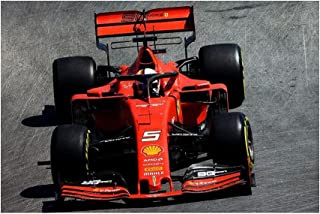 Vettel 5 Formula 1 Motor Racing Motorsport T-Shirt stampata da uomo
