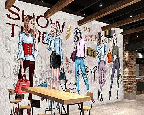BHXIAOBAOZI behang, fotobehang, aangepaste achtergrondfoto handbeschilderde stijl cosmetica kleding winkel gereedschappen achtergrond woonkamer slaapkamer tv muurschilderingen 3D wallpaper 330cm(W)×210cm(H)