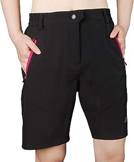 bpbtti Women's MTB Cycling Short Pants Lightweight Loose Fit Hiking Shorts with 3 Zipper Pockets