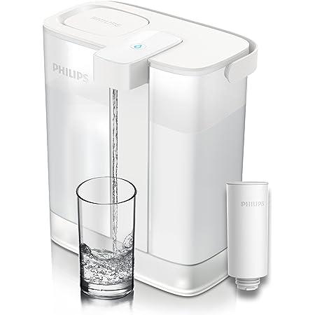 Philips Water Carafe filtrante Philips Instant Water Filter - Capacité de 3L, rechargeable par port USB-C