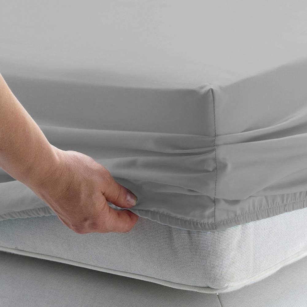 DXSERCV Protège-Matelas Drap de lit Solide Drap Housse avec Bande élastique Literie Simple King Queen Size Bed Mattress Cover 180x200x25cm