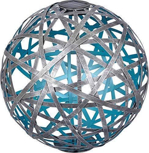 Dehner Solarkugel Asmara, Ø 40 cm, Metall/Kunststoff, blau/Silber