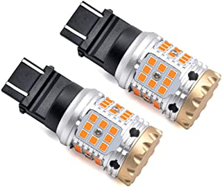 LASFIT Amber 3157CK 4157CK 3457CK 3357NA ONLY for CK socket CANBUS Anti Hyper Flash LED Blinker Turn Signal Light Bulb, Plug & Play, CK Socket (Pack of 2)