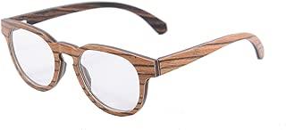 SHINU Retro Vintage Wood Glasses Clear Lens Wooden Frame Eyeglasses-133