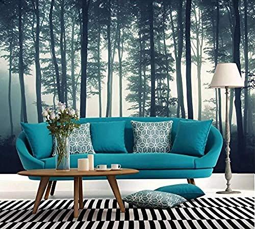 Wallpaper 3D Fototapete Misty Jungle Fototapete Moderne Wandtapete fototapete 3d Tapete effekt Vlies wandbild Schlafzimmer-400cm×280cm