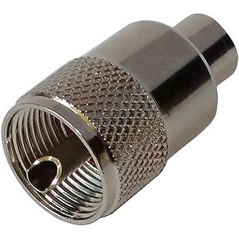 4 x Adaptadores conectores enchufe BNC hembra F hembra AERZETIX