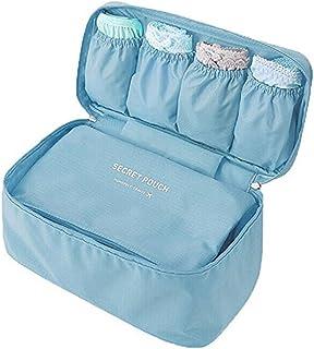 Vpang جوارب متعددة الوظائف محمولة منظم حمالة الصدر حقيبة السفر تخزين حقيبة مستحضرات التجميل مكعب (الأزرق السماوي)