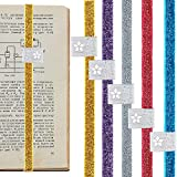 10 Pieces Elastic Planner Bands Planner Bookmark Notebook Closure Band Bookmark Bands Straps with Pen Holder Loop Compatible with Planner Notebook Journal