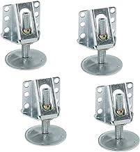 Gedotec meubelvoet robuuste sokkelhoogteverstelling stabiele sokkelvoetjes keuken met schroefhoek | stelschroef M12 x 65 m...