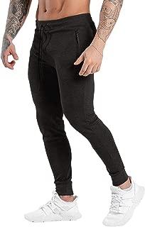 Ouber Men's Workout Sweatpants Gym Jogger Pants with Zipper Pockets