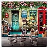 Papier Peint Murales Salon Papier Peint Mural London Cabine Téléphonique Rose Fond...