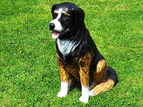 XL Berner Sennenhund in LEBENSGROSS Hund Premium Garten Deko 80cm