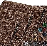 GadHome Felpudo absorbente de agua, marrón, 40 x 60 cm, para interior y exterior, antideslizante, lavable, de secado rápido, de algodón suave, para interior y exterior