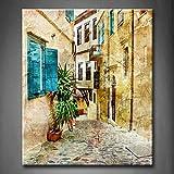 Old Streets of Griechenland Art Wand die Bild Kunstdruck