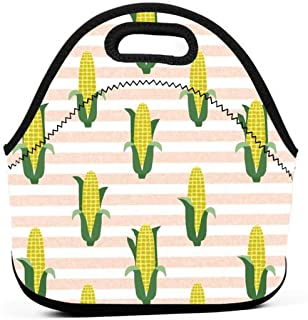 Vegan Fabric Summer Foods Multifunctional Portable Bento Bag,Lunch Box Bag for School Travel Work Office